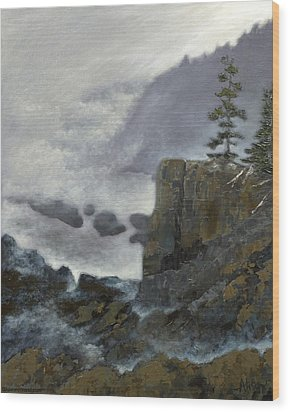 Scene From Quoddy Trail Wood Print by Alison Barrett Kent