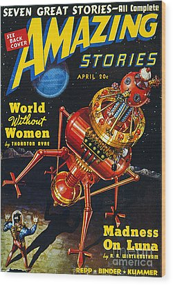Science Fiction Cover, 1939 Wood Print by Granger