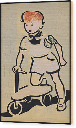 Scooter Girl Wood Print by Tony Grider