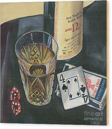 Scotch And Cigars 2 Wood Print by Debbie DeWitt