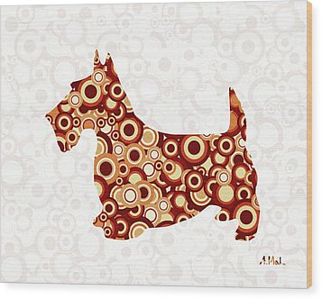 Scottish Terrier - Animal Art Wood Print by Anastasiya Malakhova