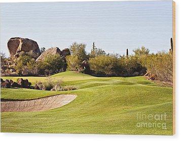 Scottsdale Golf Wood Print by Scott Pellegrin