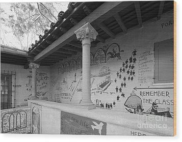 Scripps College Graffiti Wall Wood Print by University Icons