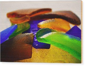 Sea Glass IIi Wood Print by Sherry Allen