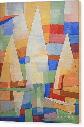 Sea Of Colors Wood Print by Lutz Baar