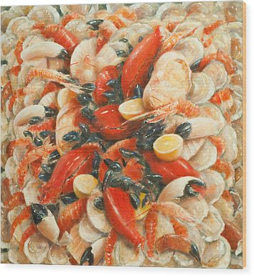 Seafood Extravaganza Wood Print by Lincoln Seligman