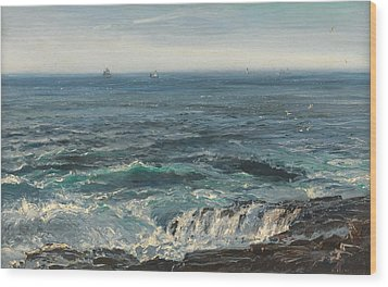 Seascape 1877 Wood Print by Henry Moore