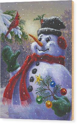Seasons Greetings Wood Print by Richard De Wolfe