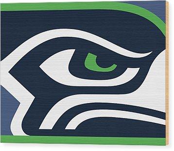 Seattle Seahawks Wood Print by Tony Rubino