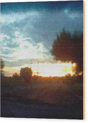 Second Sunset Wood Print by Pharris Art