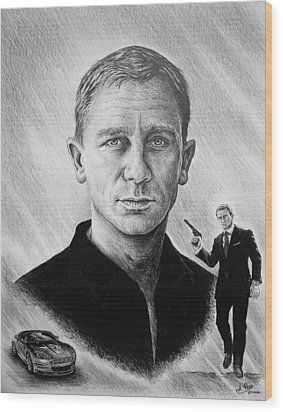 Secret Agent Wood Print by Andrew Read