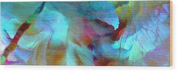 Secret Garden - Abstract Art Wood Print by Jaison Cianelli