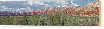 Sedona Arizona Panorama - 02 Wood Print by Gregory Dyer