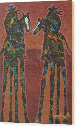 Sedona Sundown Wood Print by Lance Headlee