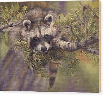 Seeking Mischief Wood Print by Lucie Bilodeau