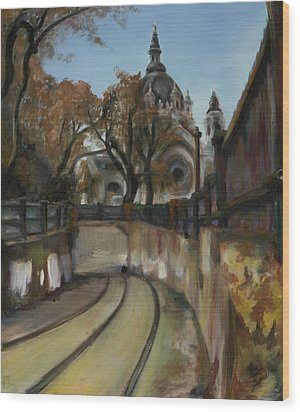 Selby Tunnel Wood Print by Grace Hasbargen