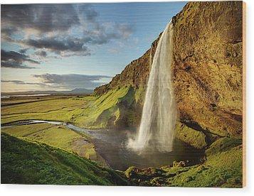 Seljalandsfoss Iceland Wood Print by Peter OReilly