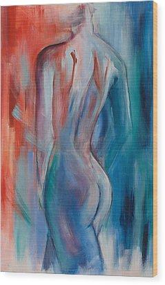 Sensuelle Wood Print by Elise Palmigiani