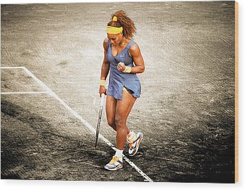 Serena Williams Count It Wood Print by Brian Reaves