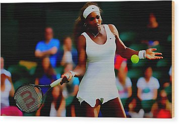 Serena Williams Making It Look Easy Wood Print by Brian Reaves