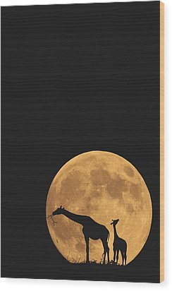 Serengeti Safari Wood Print by Carrie Ann Grippo-Pike