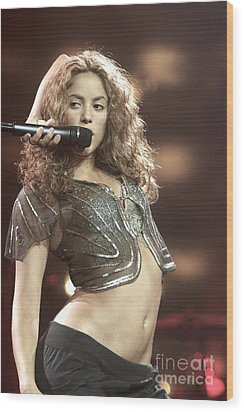 Shakira Wood Print by Concert Photos