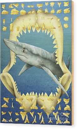 Sharks Truth... Wood Print by Will Bullas