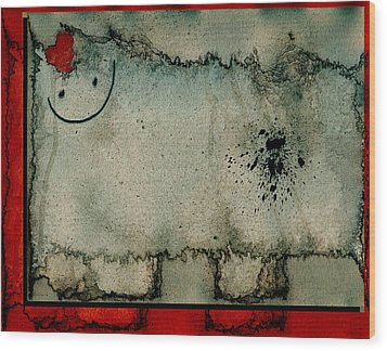 Sheep Or Not So - Bb06 Wood Print by Variance Collections