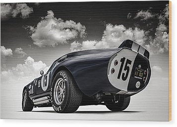 Shelby Daytona Wood Print by Douglas Pittman