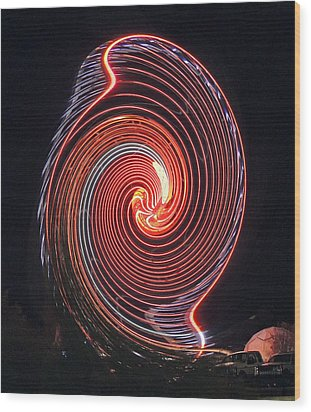 Shell Swirl Wood Print by Marian Bell