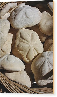 Shells By The Basket Full Wood Print by Bruce Bley