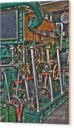 Ship Engine Wood Print by Heiko Koehrer-Wagner