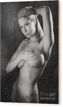 Shower A Wood Print by Jt PhotoDesign