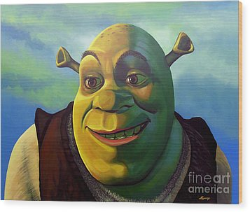 Shrek Wood Print by Paul Meijering