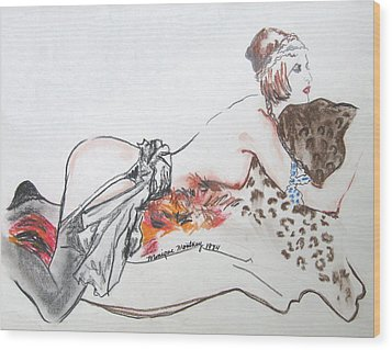Silk Stockings Wood Print by Monique Montney