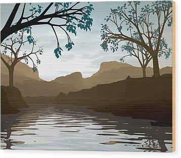Silkscreen Wood Print by Cynthia Decker