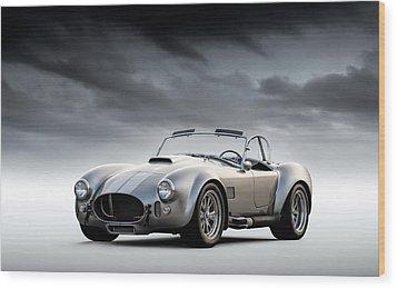 Silver Ac Cobra Wood Print by Douglas Pittman