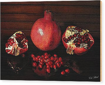 Simply Red Wood Print by Cole Black
