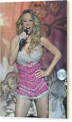 Singer Mariah Carey Wood Print by Concert Photos