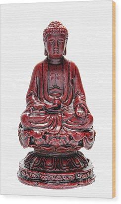 Sitting Buddha  Wood Print by Olivier Le Queinec