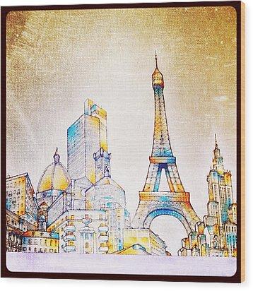 Skyline Of The World Wood Print by Natasha Marco