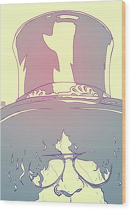 Slash Wood Print by Giuseppe Cristiano