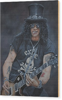 Slash Live Wood Print by David Dunne