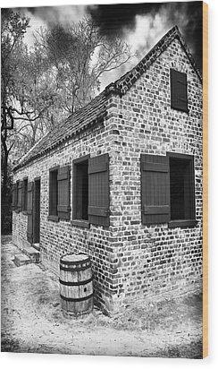 Slave House Wood Print by John Rizzuto