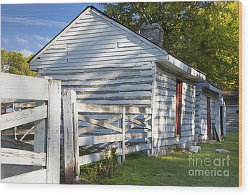 Slave Huts On Southern Farm Wood Print by Brian Jannsen
