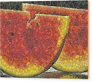 Slices Of Watermelon Wood Print by Dragica  Micki Fortuna