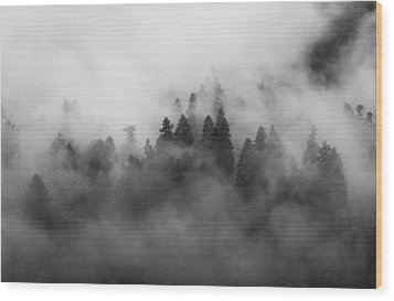 Smoke On The Mountain Wood Print by Aaron S Bedell
