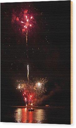 Smoke On The Water Wood Print by LA Beaulieu