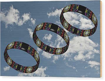 Smoke Rings In The Sky 1 Wood Print by Steve Purnell