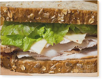 Smoked Turkey Sandwich Wood Print by Edward Fielding